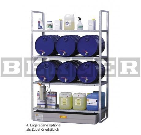 Fassregal Typ 540 für bis zu 12 x 60 Liter Fässer und Kleingebinde